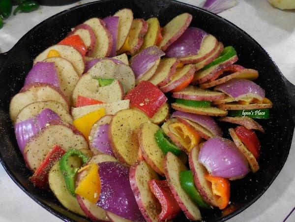 Baked Potato And Veggie Ring Recipe