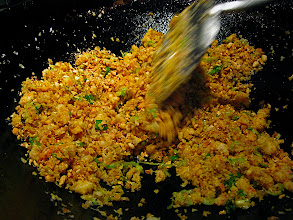 Photo: crepe filling colored with turmeric