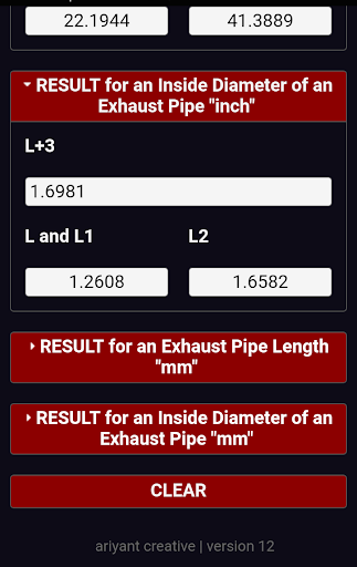 Four 4 Stroke Exhaust Pipe Calculator by Ariyant Creative