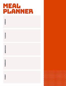 Simple Meal Planner - Weekly Schedule item