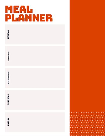 Simple Meal Planner - Planner template