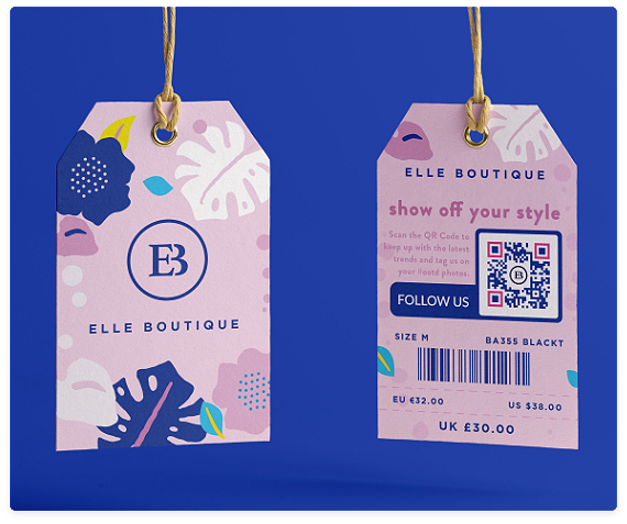 QR code on Tags