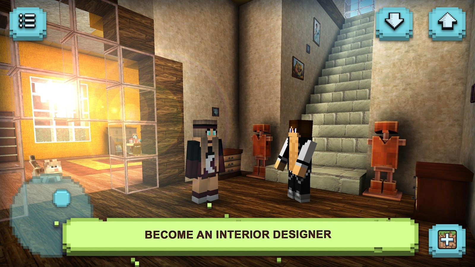 Dream house craft design block building games android for Crafting and building app store