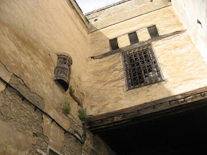 Photo: Harem windows above the souks in Fes