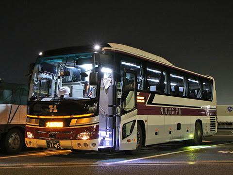 阪急バス「大阪・京都~富山線」 1145 尼御前サービスエリアにて