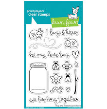 Lawn Fawn Clear Stamps 4X6 - Bugs & Kisses