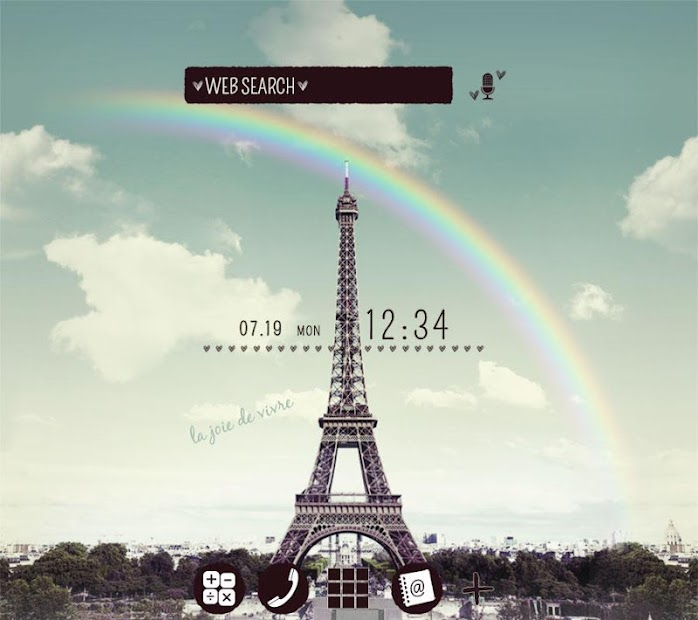 Wallpaper Rainbow Eiffel Theme Android App Screenshot