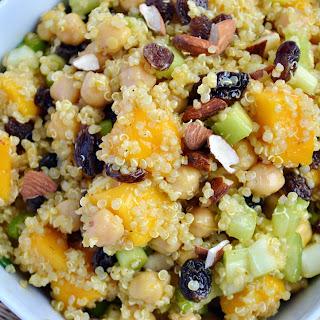 Curried Chickpea, Mango & Quinoa Salad.