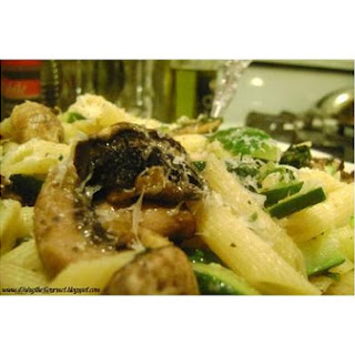 Macaroni With Zucchini & Grilled Mushrooms