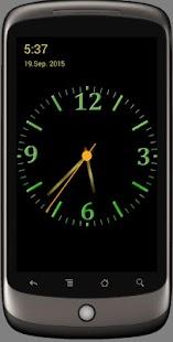 Hezké noční analogové hodiny - náhled