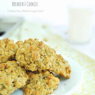 Peanut Butter Chia Oatmeal Breakfast Cookies (Gluten free, refined sugar free)