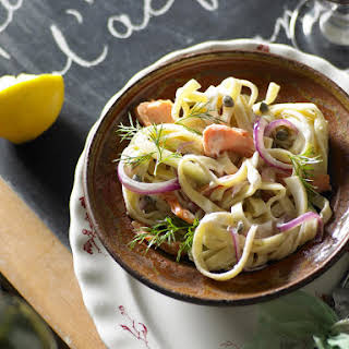 Smoked Trout Fettucine with Fennel.
