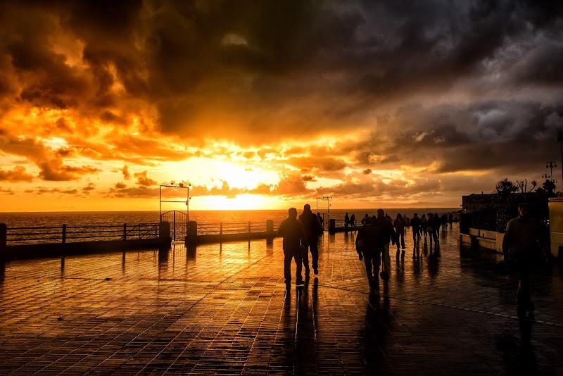 Silhouette al tramonto di Sergio Locatelli