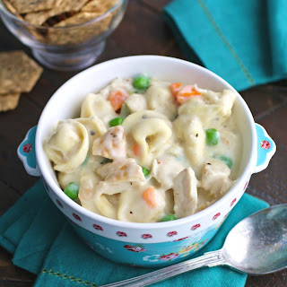 Creamy Leftover Turkey and Tortellini Soup