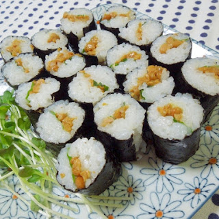 Natto Sushi Roll with Refreshing Shiso