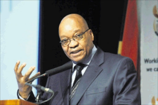 President Jacob Zuma during the President's interaction with the cultural industry sector held at Sandton Convention centre yesterday. Pic: PETER MOGAKI. 17/11/2009. © Sowetan