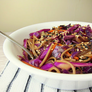 Crunchy Soba and Red Cabbage Stir Fry.