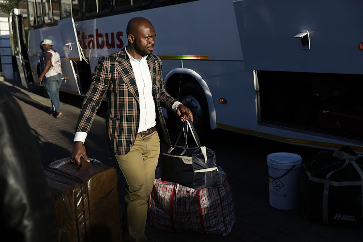 Nigerian nationals are being repatriated this week following a wave of xenophobic violence in SA. Families boarded buses in Johannesburg on September 11 2019.