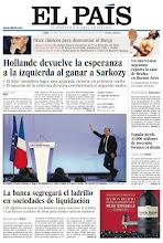 Photo: En la portada de EL PAÍS del lunes 23 de abril: Hollande devuelve la esperanza a la izquierda; La banca segregará el ladrillo en sociedades de liquidación para intentar sanear balances y reactivar el crédito; Mourinho encuentra el antídoto conta Guardiola después de 11 clásicos. http://srv00.epimg.net/pdf/elpais/1aPagina/2012/04/ep-20120423.pdf