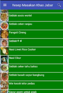 Resep Masakan Khas Jabar - náhled