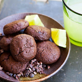 Chocolate Cookies with Cocoa Nibs and Lime Recipe