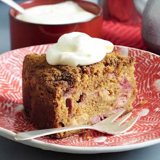 Sugar Crusted Rhubarb Cake
