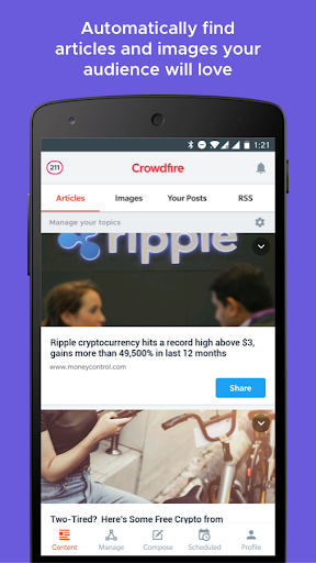 Crowdfire: Social Media Manager 4.12.4 screenshots 1