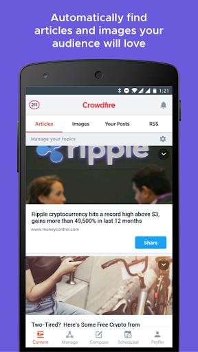 Crowdfire: Social Media Manager 4.13.1 screenshots 1