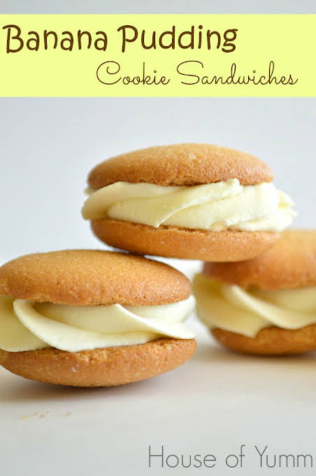 Banana Pudding Cookie Sandwiches