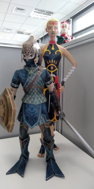 The Legend of Zelda Zora armor Link & Impa by John