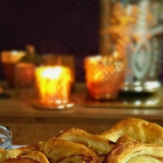 Parma Ham and Brie Palmiers.