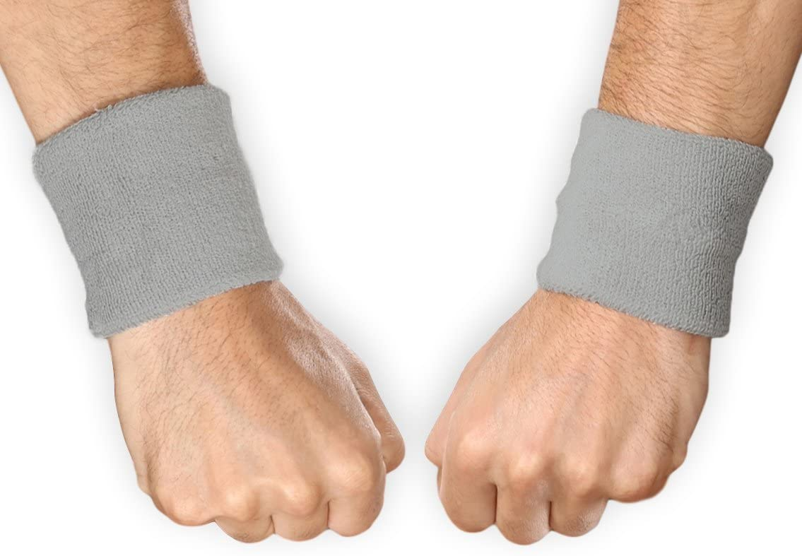 Use wrist sweatbands to stop excess sweat from running down your forearms onto your hands.