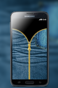 Jeans Zipper Screen Locker screenshot 3