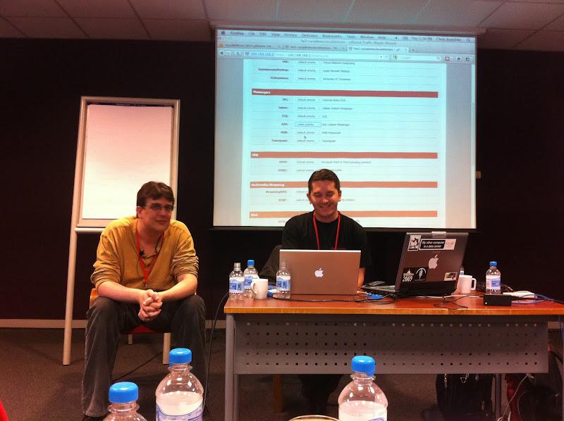 Photo: Ermal presenting