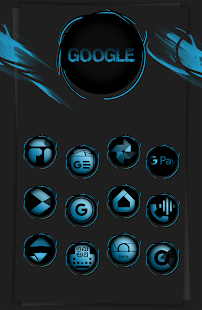 Black Army Sapphire - Icon Pack - Fresh dashboard Screenshot