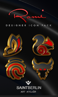 Romi HD Icon Pack Gold Red- screenshot thumbnail
