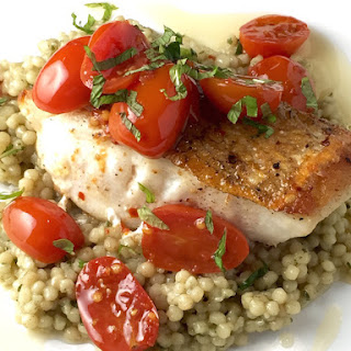 Pan Roasted Tile Fish with Tomato Chili Confit