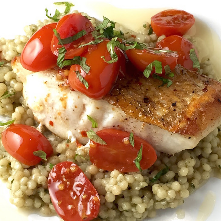Pan Roasted Tile Fish with Tomato Chili Confit Recipe