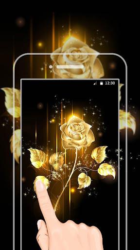 金色玫瑰動態壁紙