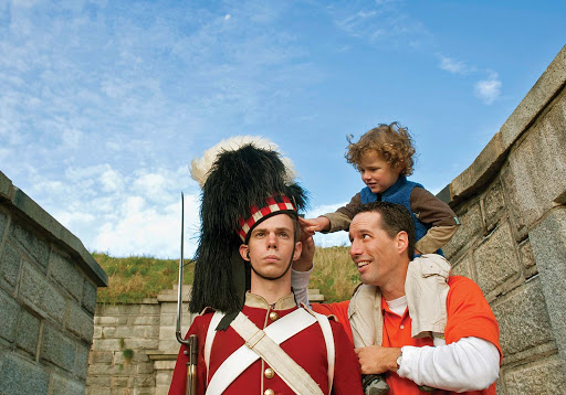 halifax-guard.jpg -  A father and son inspect a guard at the Halifax Citadel.