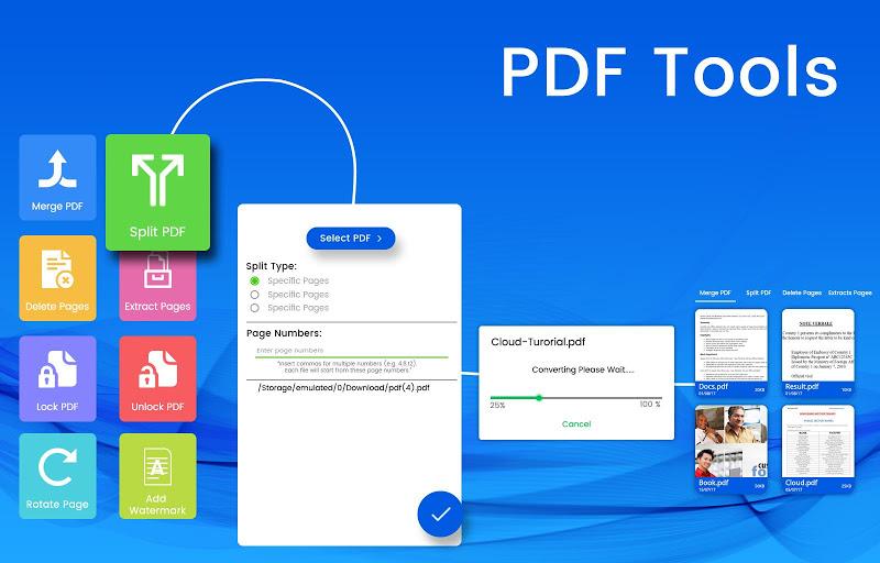PDF Tools - Merge, Rotate, Watermark, Split APK Cracked Free