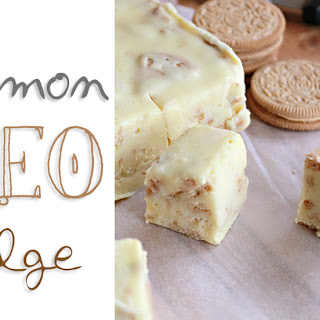 Lemon Oreo Fudge