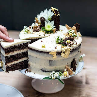 Chocolate, Tahini and Honey Celebration Cake.
