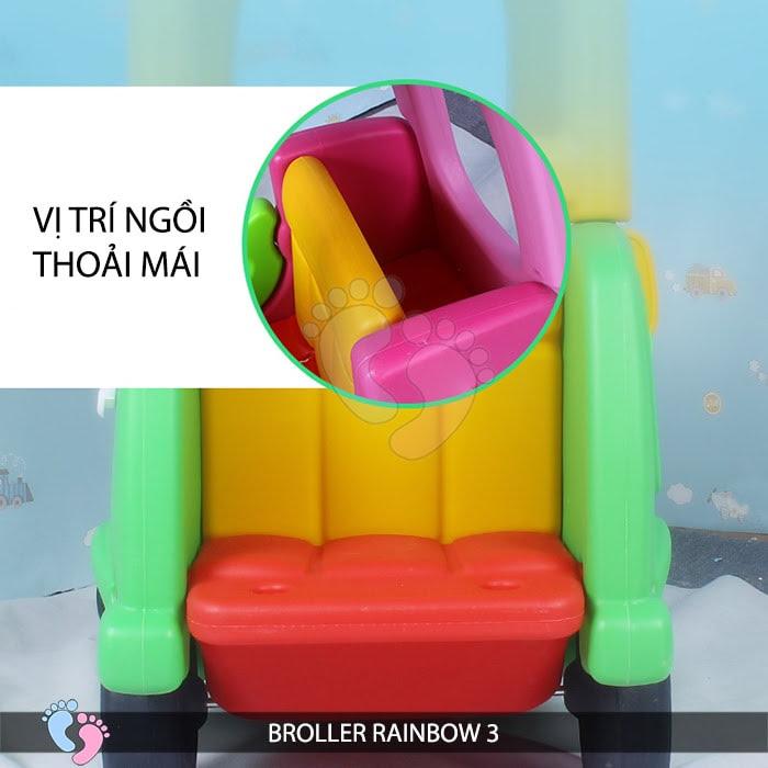 Xe chòi chân Broller Rainbow 3 cho bé 10