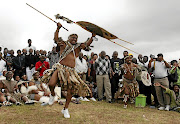Jacob Zuma gets in the mood during a previous marriage ceremony.