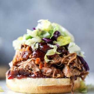 Pulled Pork Sandwiches with Cherry Chipotle BBQ Sauce.