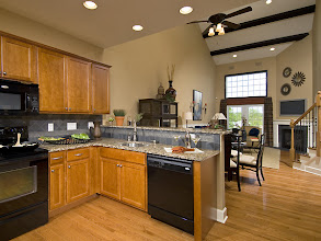 Photo: The MORGAN townhome kitchen and great room.