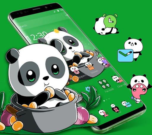 Cute Anime Green Panda Theme 1.1.1 screenshots 2