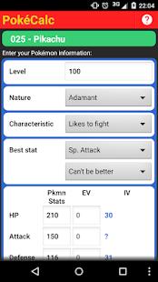 PokéCalc Trainer Edition - náhled