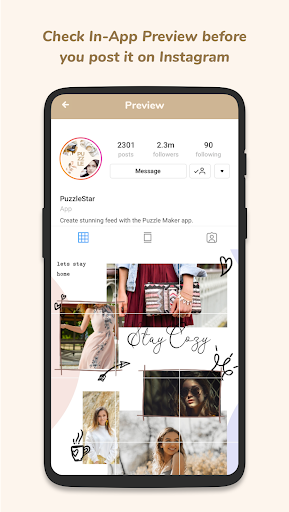 Puzzle Collage Template for Instagram - PuzzleStar 3.1.4 screenshots 6